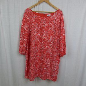 Old Navy Shift Dress Trees Birds Print 2XL
